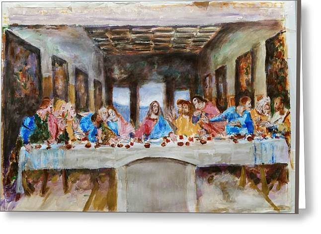 Last Supper. Leonardo Da Vinci. Sketch Greeting Card