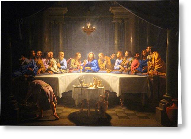 Last Supper Meeting Greeting Card