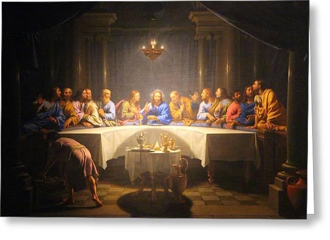 Last Supper Meeting Greeting Card by Munir Alawi