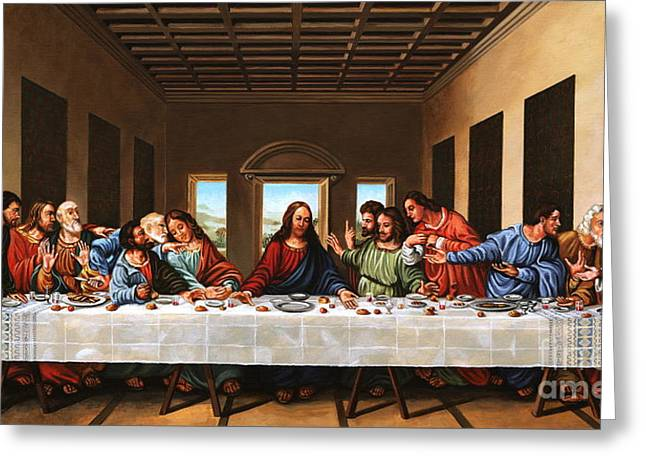 Last Supper Greeting Card by Michael Nowak
