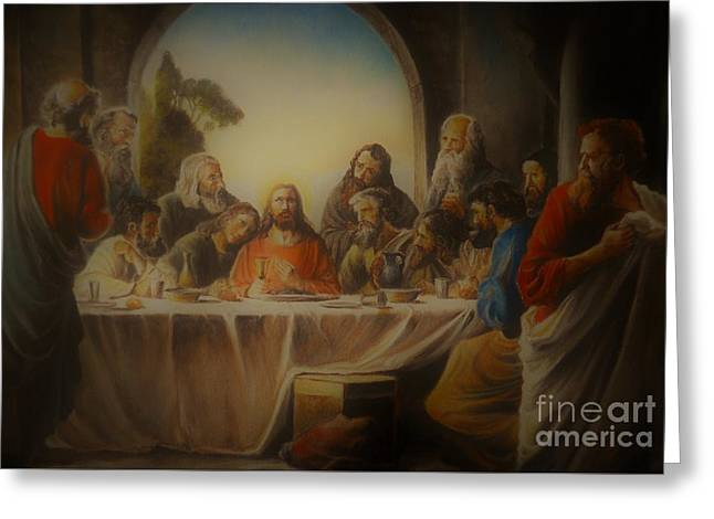 Last Supper Greeting Card by Sorin Apostolescu
