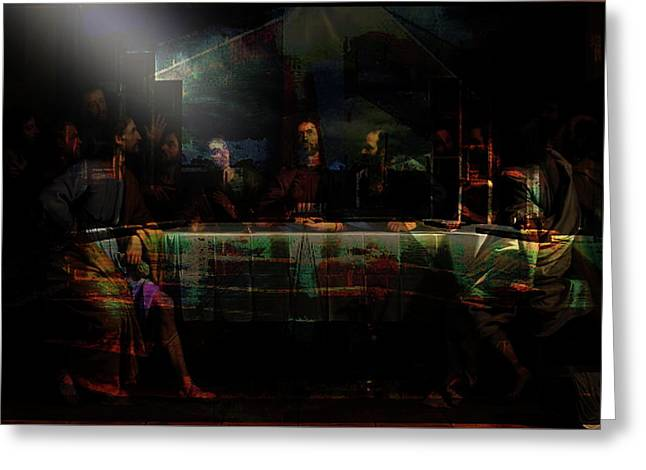 Last Supper...after Philippe De Champaigne Greeting Card by Paul Sutcliffe