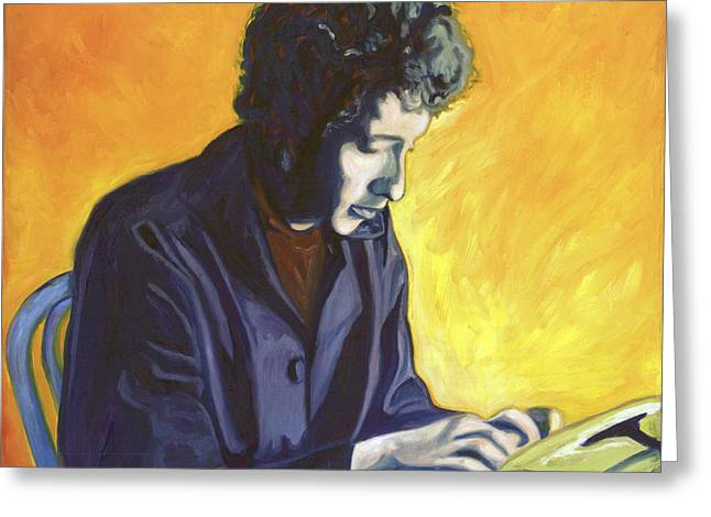Last Thoughts On Woody Guthrie Greeting Card by Natasha Laurence