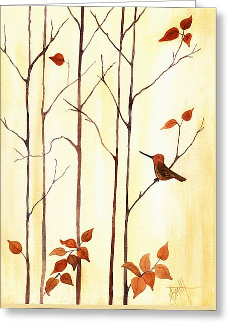Last To Leave Greeting Card by Marilyn Smith