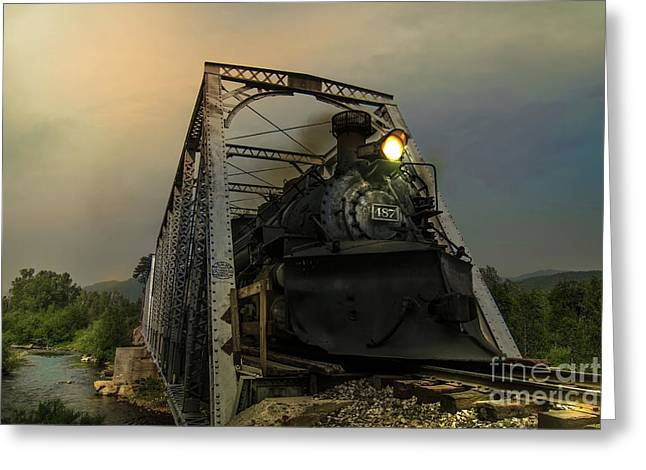 Last Train Into Chama Greeting Card by Robert Frederick
