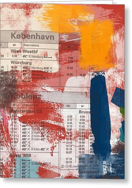 Last Train To Kobenhavn- Art By Linda Woods Greeting Card