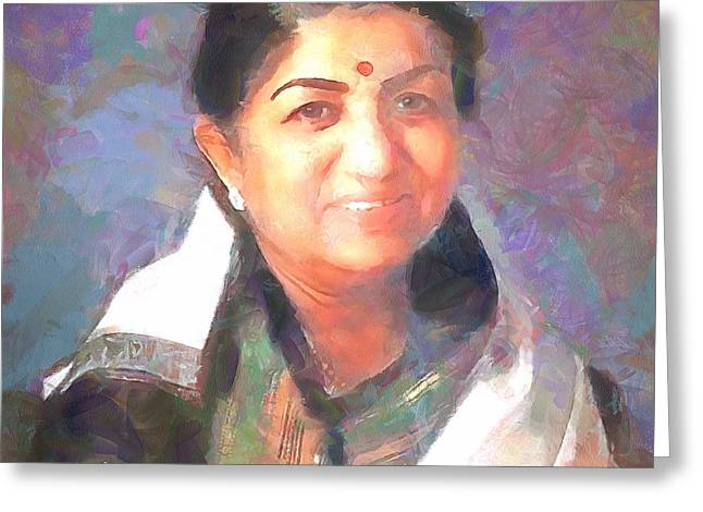 Lata Mangeshkar  Greeting Card