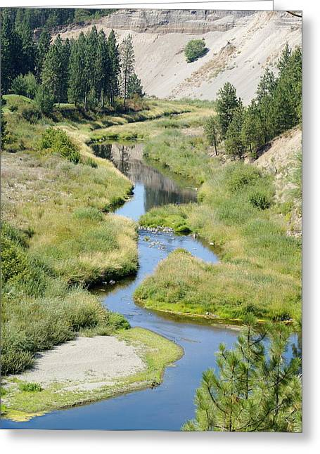 Greeting Card featuring the photograph Latah Creek by Ben Upham III