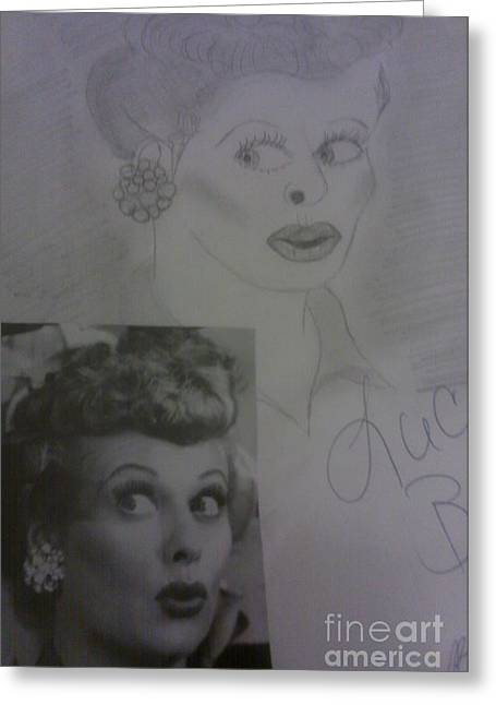 Late Actress Lucille Ball Greeting Card