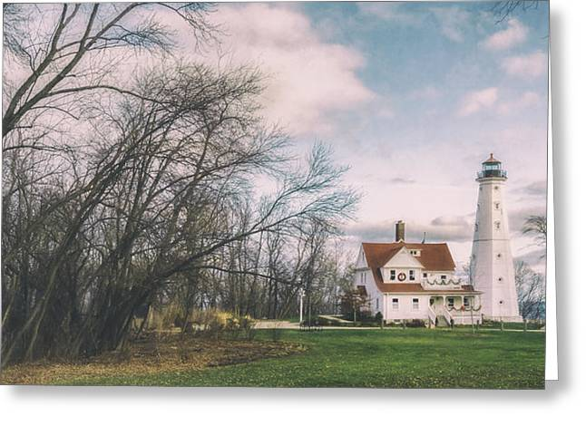 Late Afternoon At The Lighthouse Greeting Card by Scott Norris