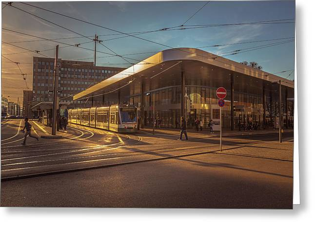 Late Afternoon At The Transport Hub Greeting Card by Chris Fletcher