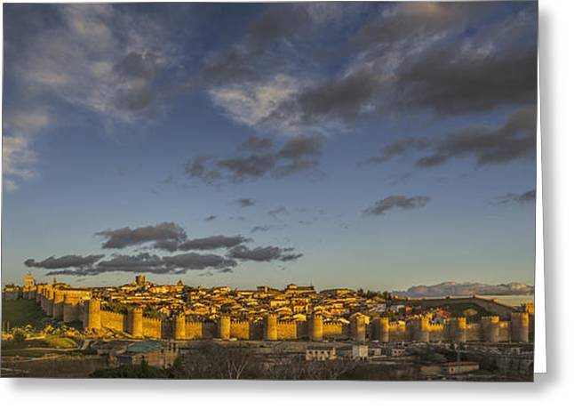 Late Afternoon Avila Greeting Card by Joan Carroll