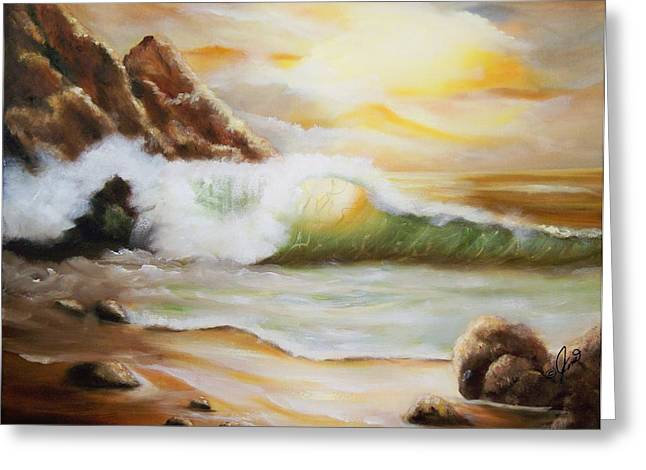 Late Afternoon Beach Greeting Card by Joni M McPherson