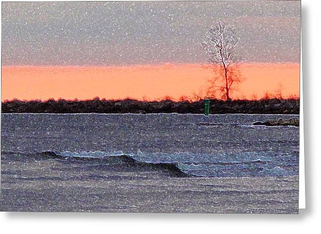 Late Afternoon By The Lake 2 Greeting Card by Lyle Crump