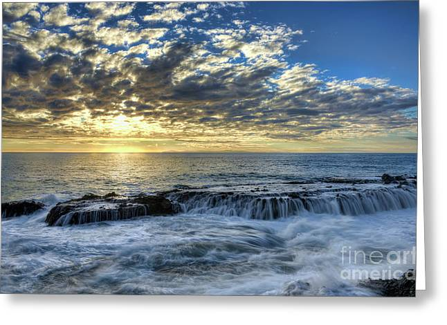 Greeting Card featuring the photograph Late Afternoon In Laguna Beach by Eddie Yerkish