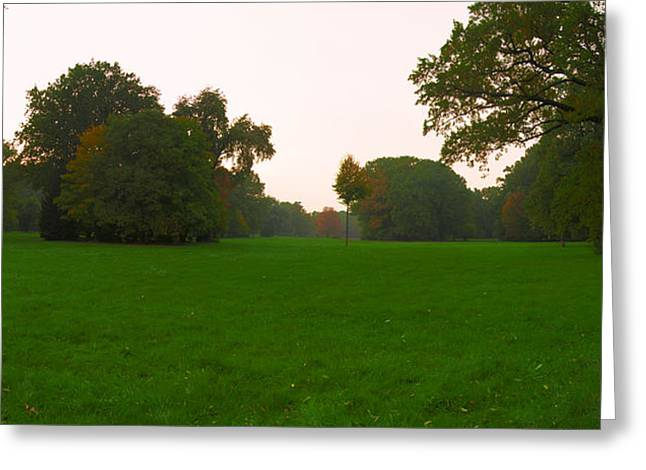 Late Afternoon In The Park Greeting Card