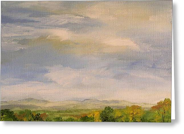 Late Afternoon In Vermont  Greeting Card