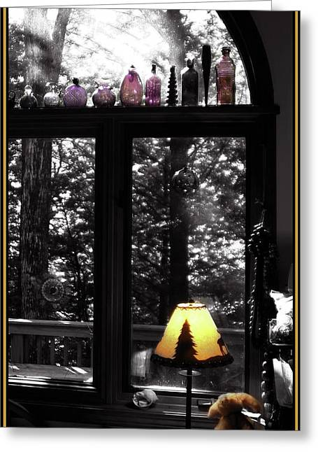 Greeting Card featuring the photograph Late Afternoon Light Across Arch Window by Wayne King