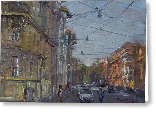 Late Afternoon Light - Regina Margherita -rome Greeting Card