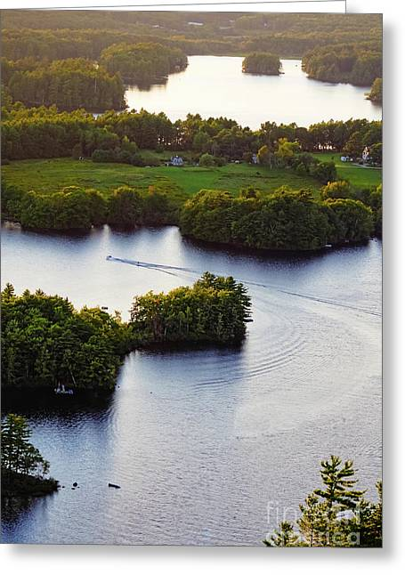 Late Afternoon On Lake Megunticook, Camden, Maine -43988 Greeting Card