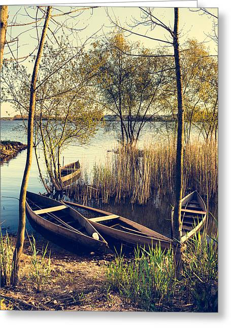 Late Afternoon On The Lake II Greeting Card by Marco Oliveira