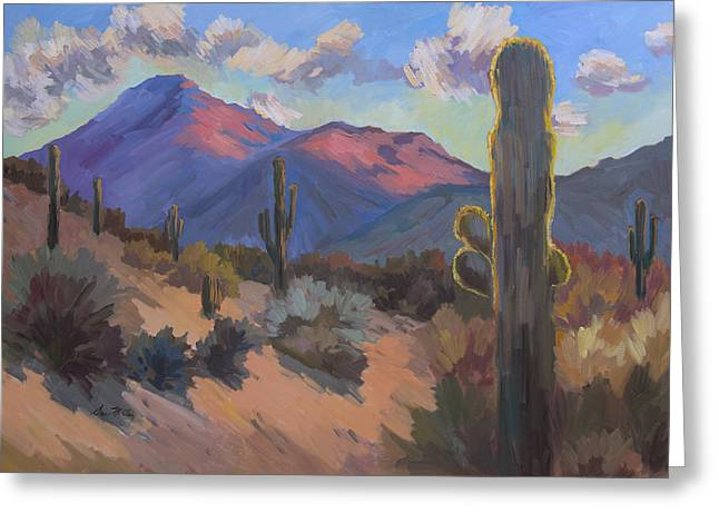 Late Afternoon Tucson 2 Greeting Card by Diane McClary