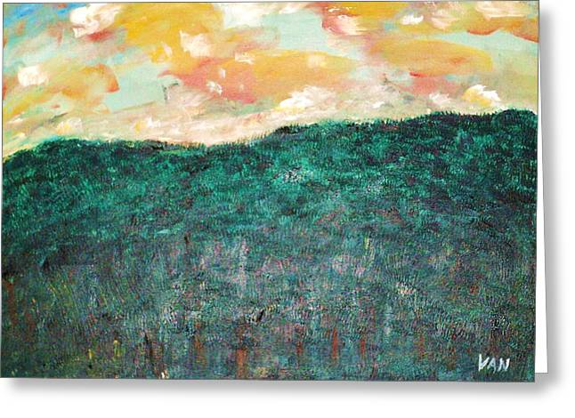 Late Afternoon Greeting Card by Van Winslow