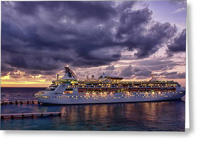 Late Arrival In Cozumel Greeting Card