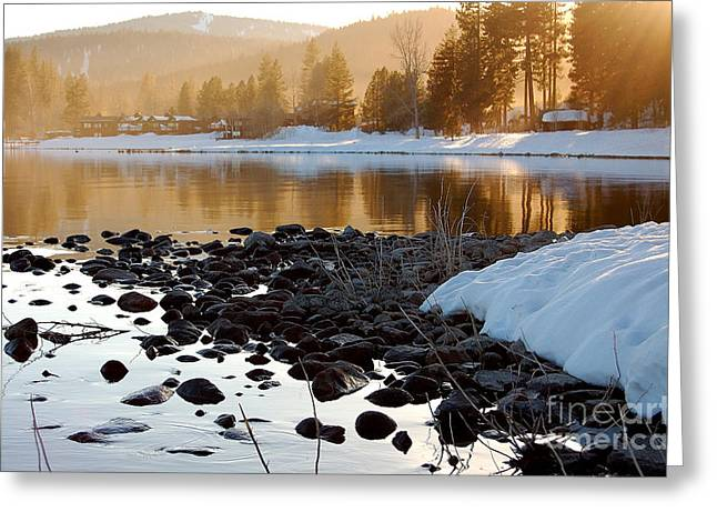 Late Aternoon  Lake Tahoe Greeting Card by Heather S Huston