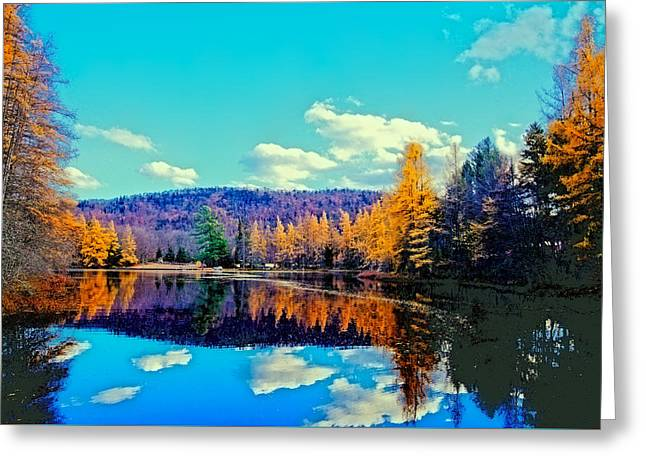 Late Autumn At Woodcraft Camp Greeting Card by David Patterson