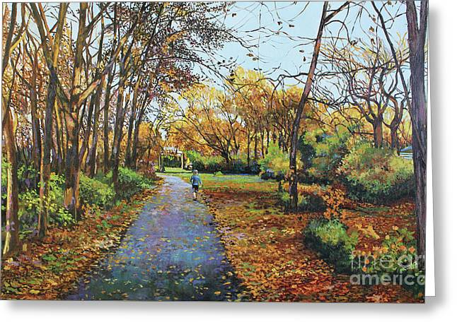 Late Autumn-red Jacket Trail  Greeting Card