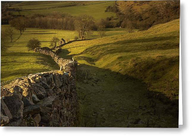 Late Evening In The Peak District Greeting Card by Chris Fletcher