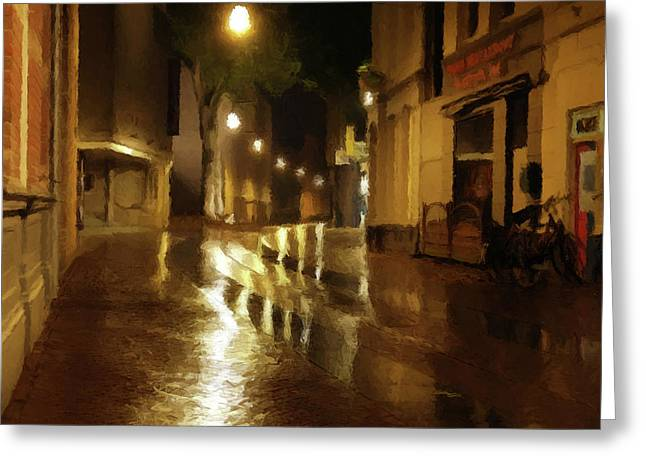Greeting Card featuring the photograph Late Evening Rain  by David Dehner