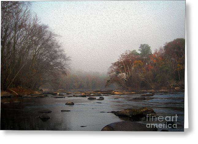 Late Fall Digital Painting Saluda River Greeting Card
