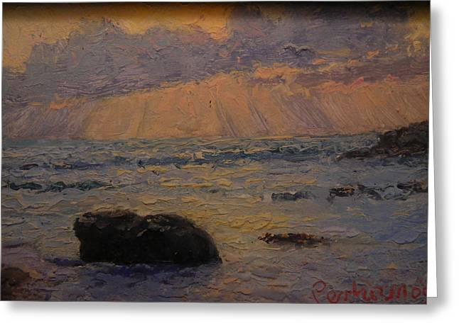 Terry Perham Greeting Cards - Late Light Knights Point Greeting Card by Terry Perham