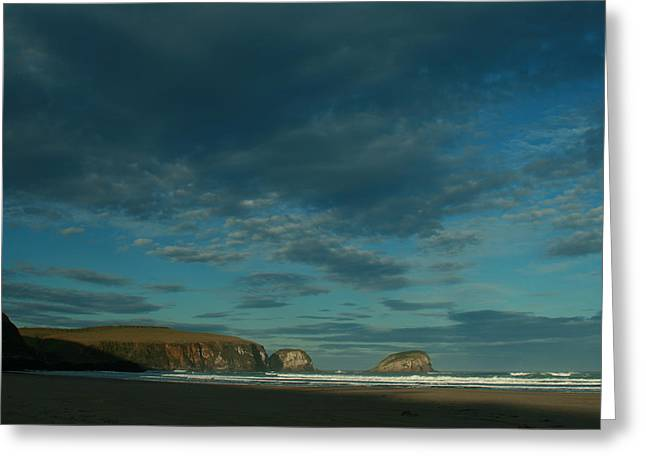 Terry Perham Greeting Cards - Late Light Tautauku Beach Greeting Card by Terry Perham