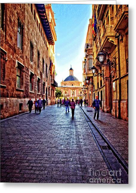 Late Morning In Winter - Valencia Greeting Card by Mary Machare