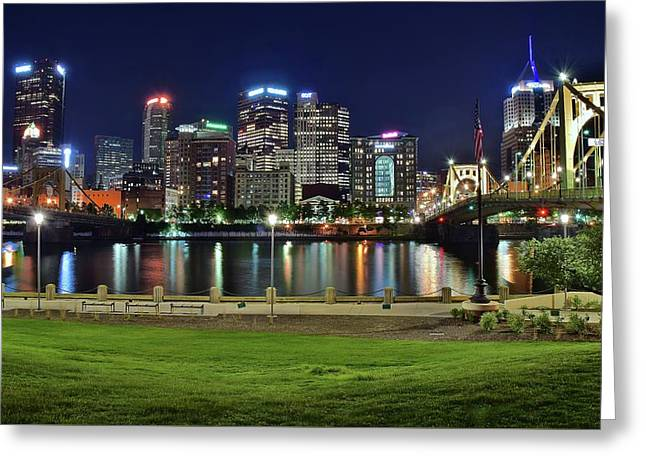 Late Night Along The River Greeting Card