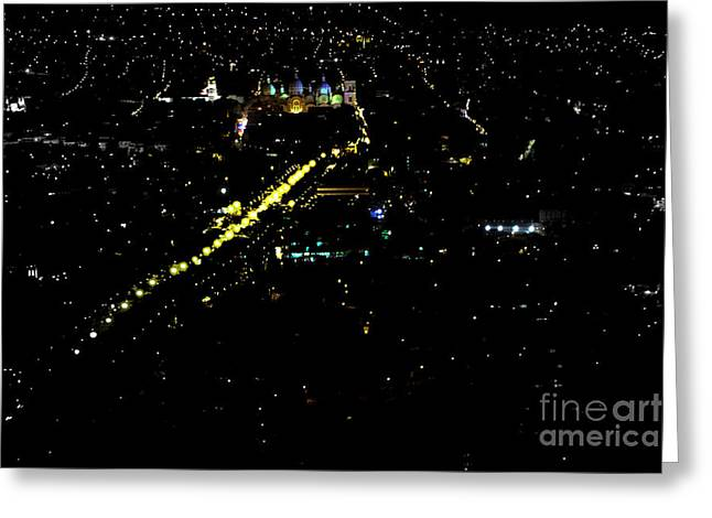 Greeting Card featuring the photograph Late Night In Cuenca, Ecuador by Al Bourassa