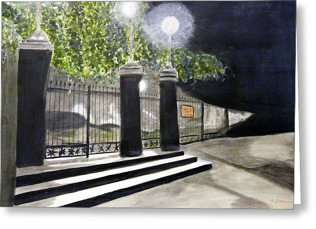 Late Night In New Orleans Greeting Card by Cathy Jourdan
