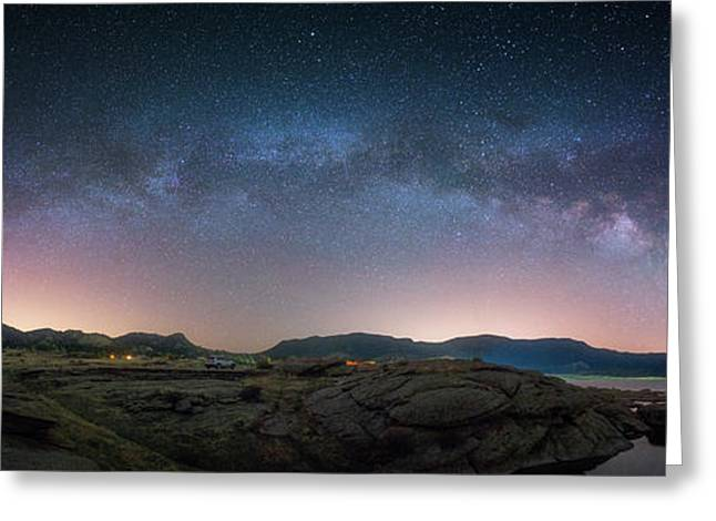 Late Night Milky Show Greeting Card by Darren White