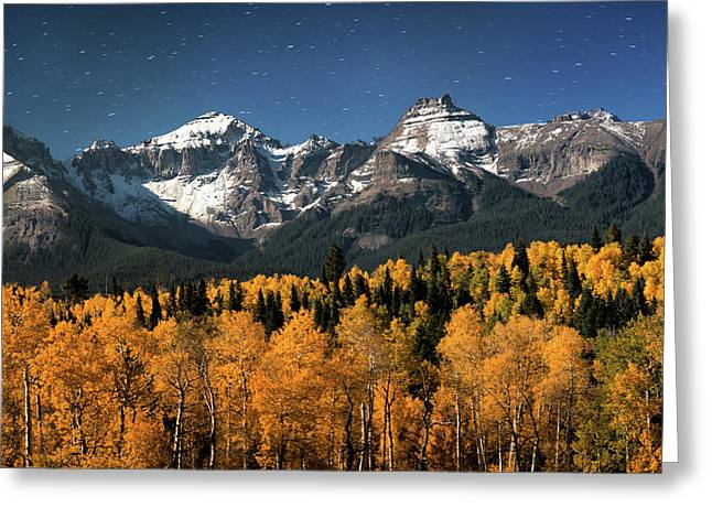 Late Night Sandwich In The Sneffels Wilderness - Triptych Center Greeting Card by Mike Berenson