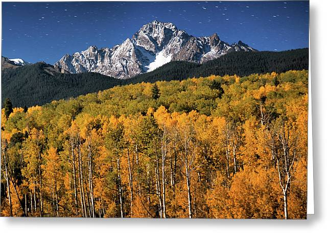 Late Night Sandwich In The Sneffels Wilderness - Triptych Right Greeting Card by Mike Berenson