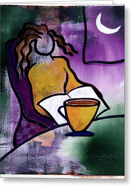 Late Night With Java Lady Greeting Card by Lucas Boyd