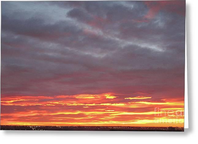 Late Prairie Sunrise Greeting Card