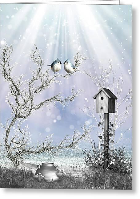Late Snow Greeting Card