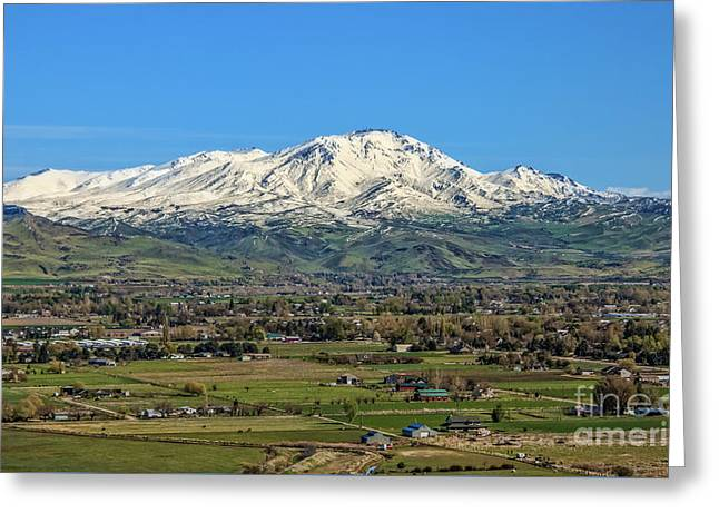 Greeting Card featuring the photograph Late Spring On Squaw Butte by Robert Bales