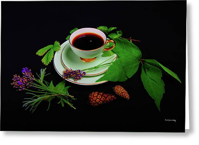 Late Summer Coffee Greeting Card