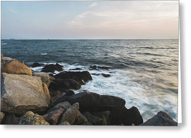 Late Summer Evening At Sakonnet Point Greeting Card