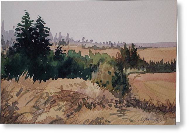 Late Summer Fields Cheney Wa Greeting Card